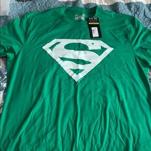 Under Armour Green Superman Shirt